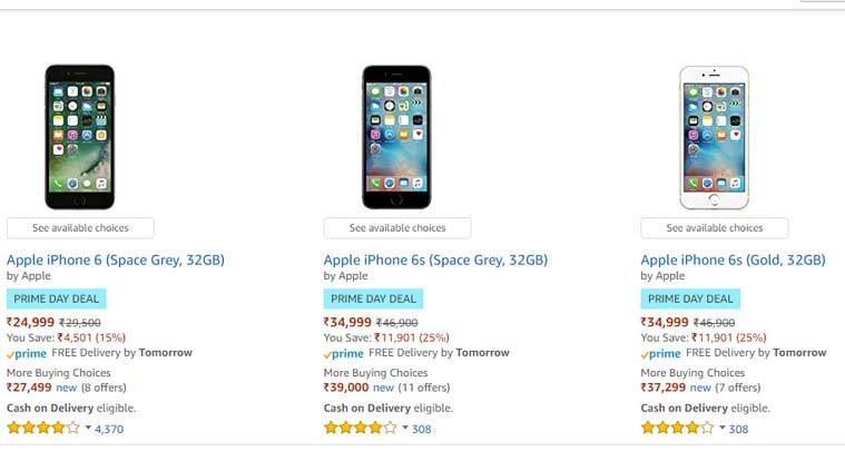 Amazon Prime Day, Amazon Prime Day deals, Apple iPhone Amazon Deals, Amazon deals Apple iPhone 7, iPhone 7 Amazon discount. Apple iPhone 6s discount, iPhone 6 vs iPhone 6s, Apple Watch 2 discount. Amazon Prime Day offers, Amazon Prime day discount options