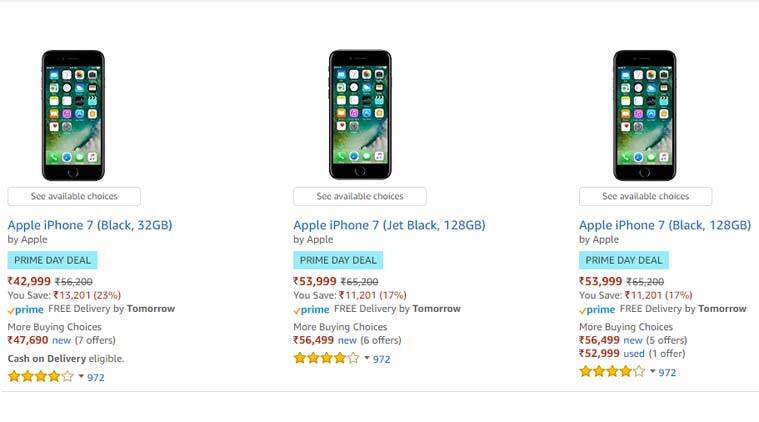 new product 3ba0f 4d5b5 Amazon Prime Day deals: Apple iPhone 7 at Rs 42,999, iPhone 6s at Rs ...