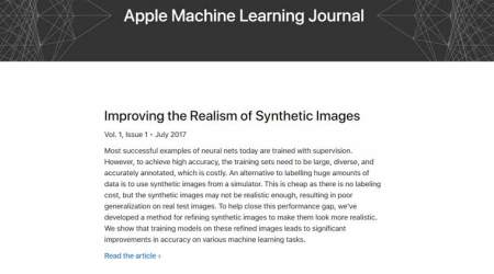 Apple, Apple Machine Learning website, Apple Machine Learning research, Apple AI, Apple iOS 11, Apple iPhone 8, Apple focus on ML, Machine Learning jobs Apple