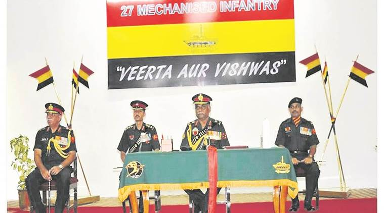 indian army, mechanised infantry regiment, maharashtra, bhusaval, 27th battalion, indian express