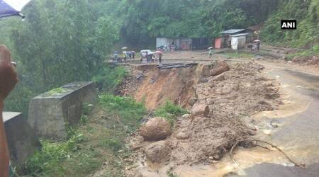 Rains trigger landslides, flash floods in Arunachal Pradesh