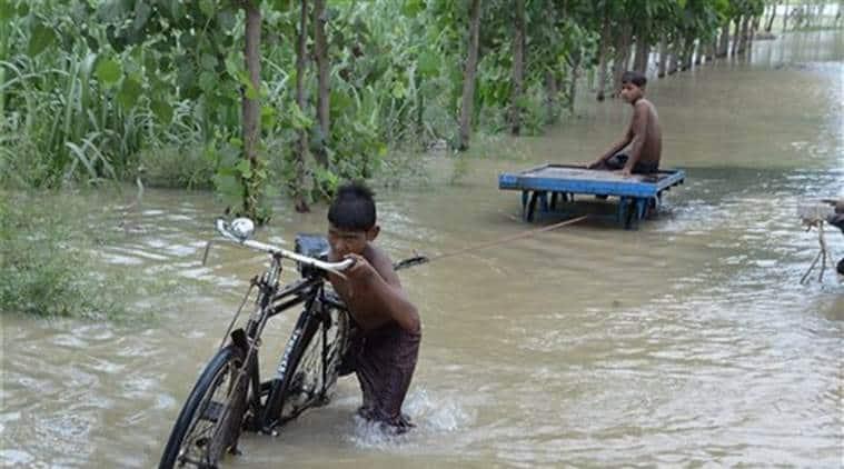 ssam Floods, Assam Flood death toll, flood situation in Assam, Assam's Water Resource Minister Keshab Mahanta , Chief Minister Sarbananda Sonowal, Assam news, Indian Express News