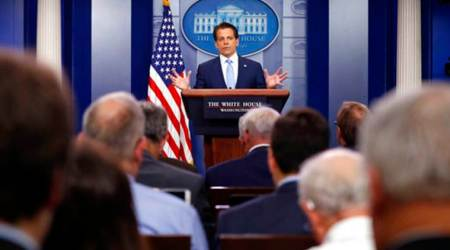 President Donald Trump, US President Donald Trump, Scaramucci, New Communication Director, New Communication Director Scaramucci, Sean Spicer, World News, Latest World News, Indian Express., Indian Express News