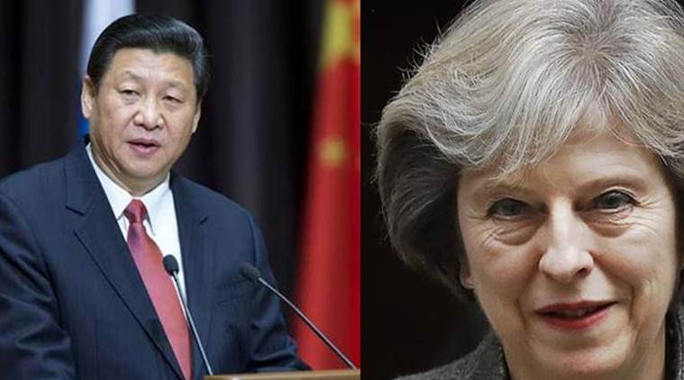 China, Chinese President Xi Jinping, Britain, British Prime Minister Theresa May, Xi Jinping, Theresa May, World News, Latest World News, Indian Express, Indian Express News