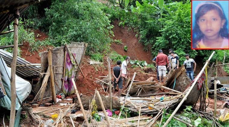assam flood, landslide, lakhimpur, guwahati, brahmaputra river, north east, rains, river over flow, indian express