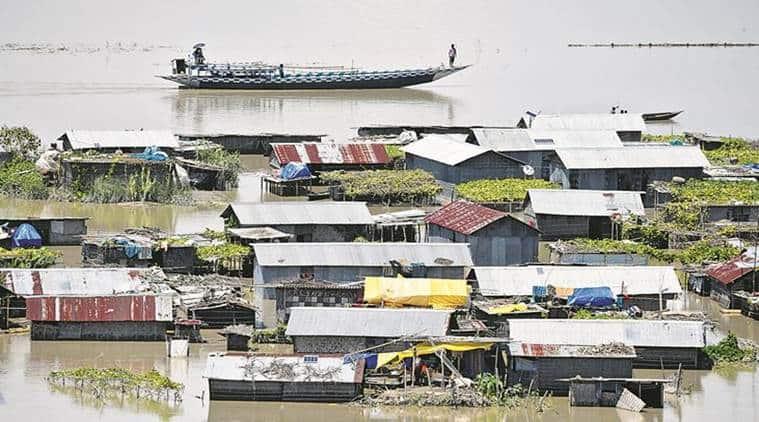 Assam Floods, Assam Flood death toll, flood situation in Assam, Assam's Water Resource Minister Keshab Mahanta , Chief Minister Sarbananda Sonowal, Assam news, Indian Express News