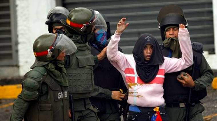 Venezuela Crisis, President Nicolas Maduro, Venezuelan President Nicolas Maduro, Nicolas Maduro Government In Crisis, World News, Latest World News, Indian Express, Indian Express News