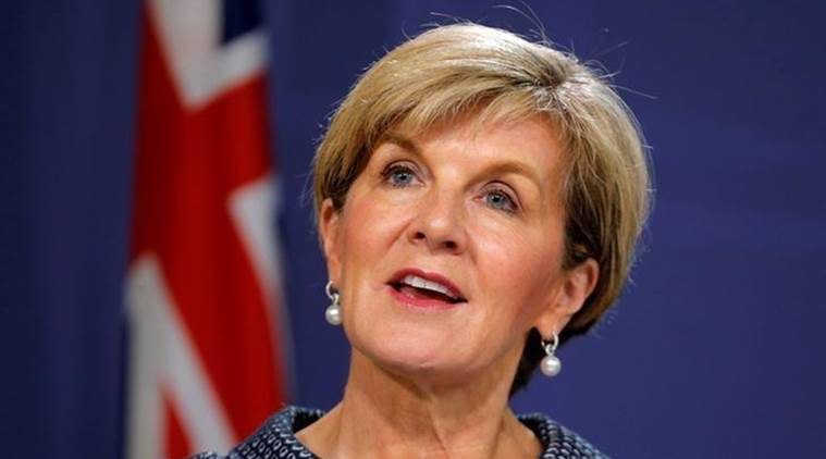 Australian Foreign Minister, Julie Bishop, Australian Foreign Minister India Visit, Australian Foreign Minister Delhi Visit, India News, Indian Express, Indian Express News