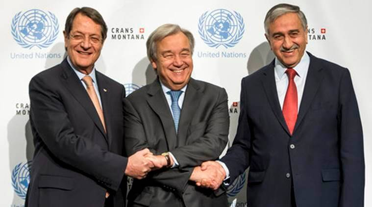 Cyprus, UN Cyprus, N Secretary-General Antonio Guterres, Antonio Guterres Cyprus, UN Secretary General Cyprus, Guterres Cyprus, World News, Latest World News, Indian Express, Indian Express News