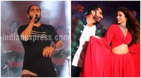 Mubarakan: Ayushmann Khurrana follows Ranveer Singh, sings 'Hawa Hawa' for buddy Arjun Kapoor with a twist. Watch video