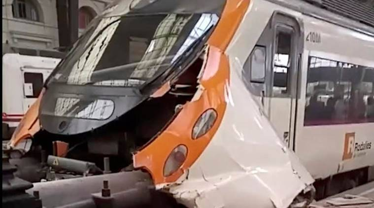 At least 40 injured in Barcelona train crash