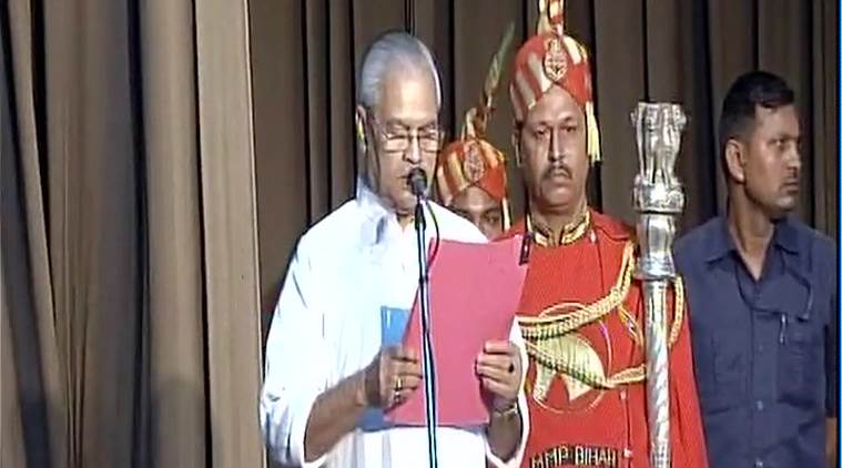 oath taking ceremony, bihar cabinet, bihar new govt, nda jdu alliance, indian express