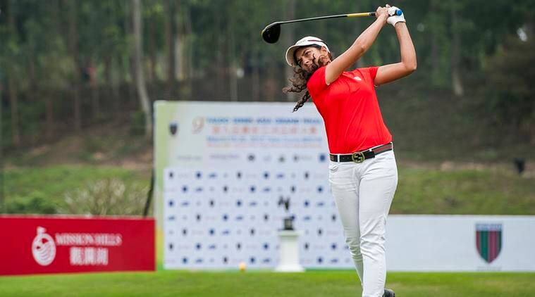 Gaurika Bishnoi, Hero WPGT, Vani Kapoor, Tvesa Malik, Amandeep Drall, Gaurika Bishnoi golf, golf news, sports news, indian express