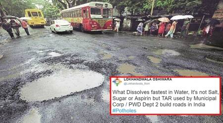 To grab BMC's attention, Twitterati get creative with Mumbai's potholes after RJ Malishka and José Covaco's videos goviral