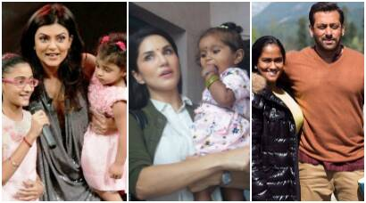 sunny leone daughter, sunny leone adopted baby girl, bollywood parents adopted kids, bollywood adopted kids, sushmita sen daughter adopt, raveena tandon adoption, salim khan adoption,
