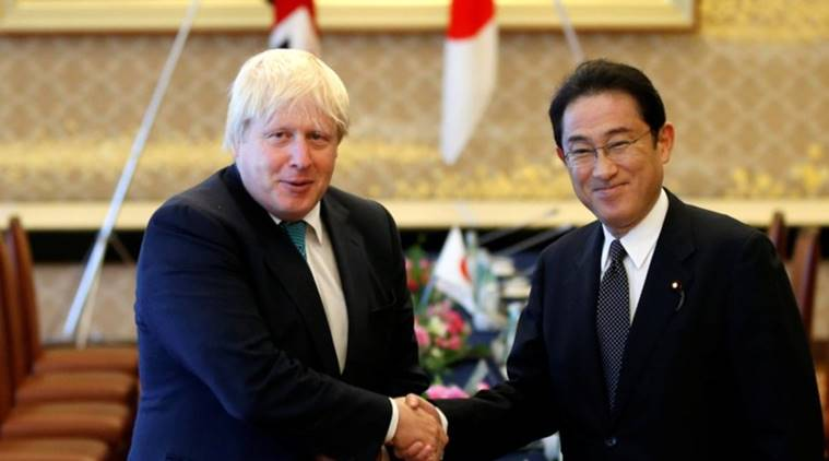 Ex-London mayor Johnson gives Japan Olympics advice