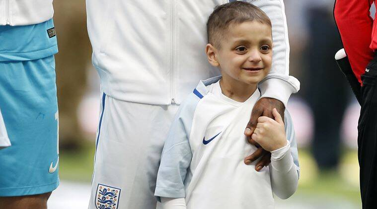 Football mascot, Bradley Lowery, Indian Express