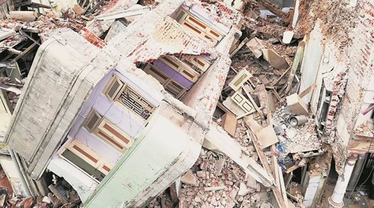 Gujarat, Ahmedabad building collapse, AMC, Building collapse, India news, Indian Express