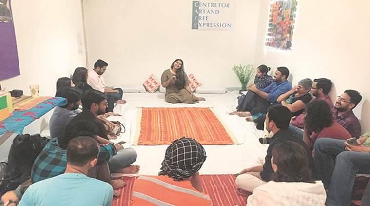 Cafe Jamia Jamia Nagar, Jamia Millia Islamia , Bilal Zaidi, #notinmyname movement, Delhi News, Indian Express News