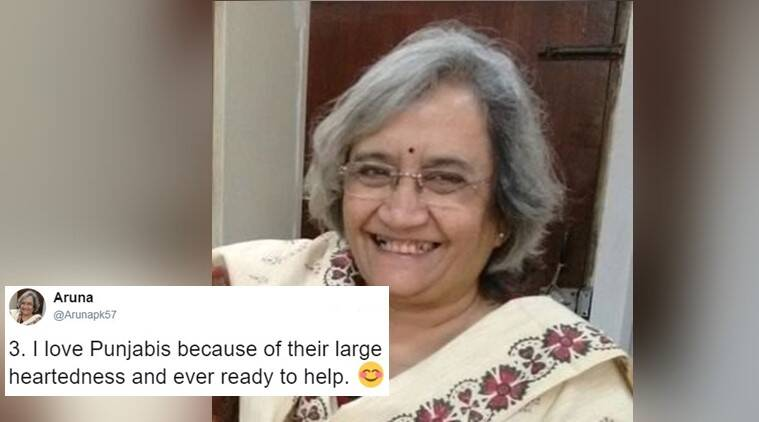 cancer survivor twitter aunty viral, cancer survivor old woman on twitter, cancer survivor aunty twitterverse viral, cancer survivor on indian states she loves and why, good news, positive stories, positive viral stories, indian express, indian express news