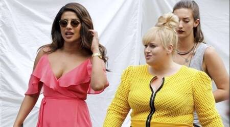 Priyanka Chopra bonds with Rebel Wilson on the sets of Isn't it Romantic. See photos