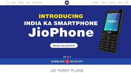 Customers to get update on Reliance JioPhone on company'swebsite