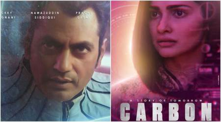 Nawazuddin Siddiqui looks out of the glass in Carbon, seephoto