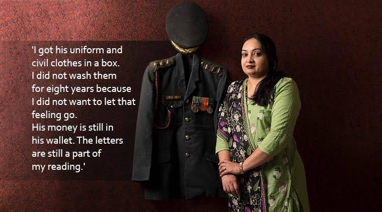 Viral facebook post about army officer, wife of army officer narrating story, viral facebook post, Captain Shafeeq Ghori widow, indian express, indian express news
