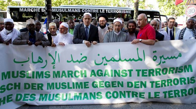 About 30 Muslim leaders from Europe hold rally against terrorism