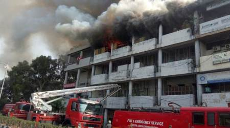 Chandigarh: Fire breaks out in government office building in sector 17-B, no injuries reported
