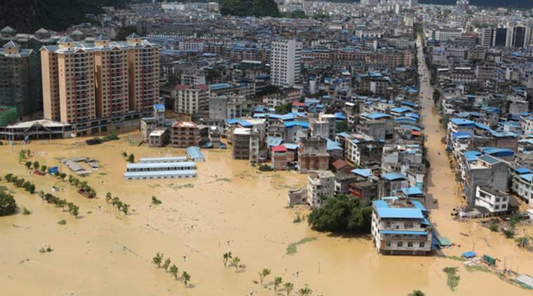 china, china flood, china rains, Liuzhou, Liuzhou flood, latest news, indian express