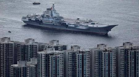 China's only aircraft carrier sails into Hong Kong for the first time