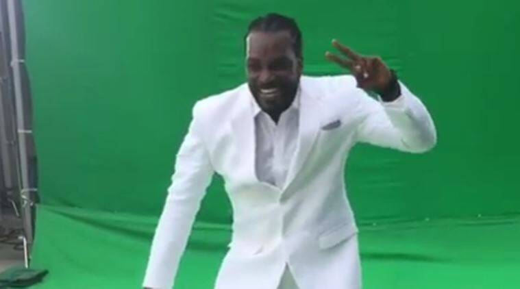 Chris Gayle, Chris Gayle dance, Sunny Leone, Sunny Leone videos, Sports, Cricket, Indian Express