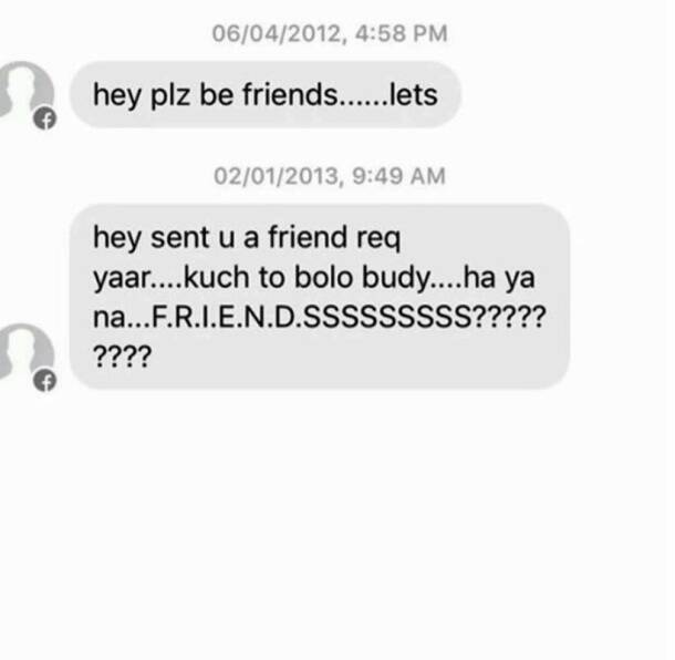 11 creepy 'fraanship' messages that most women get on Facebook