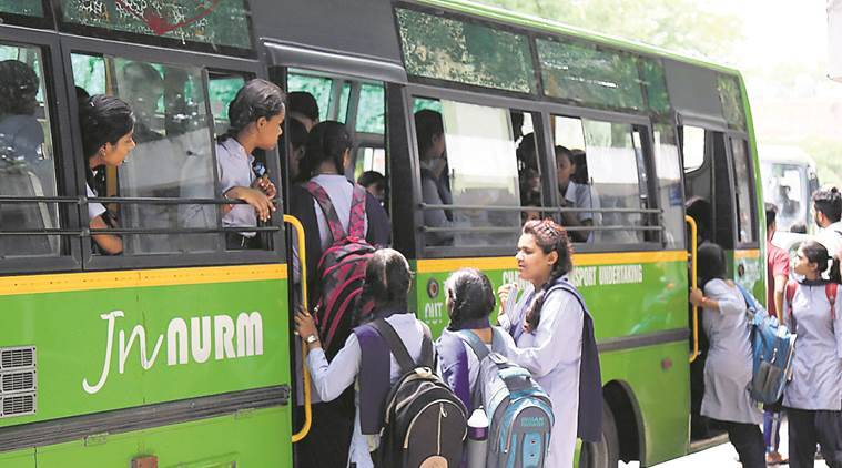 school buses, chandigarh school bus, CTU, students' safety