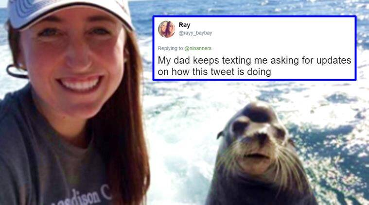 funny pictures, funny tweets, funny dad jokes, funny mom jokes, Dad's funny birthday wish to his daughter, Indian Express, Indian Express News
