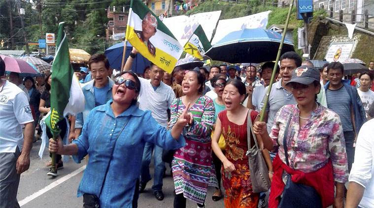 gjm news, darjeeling hills news, india news, indian express news