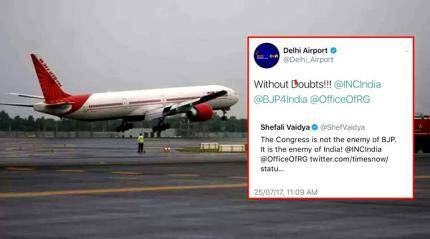 After claiming Congress is India's enemy, Delhi Airport said its Twitter account was under 'hacker attack'
