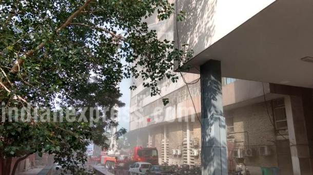 Delhi fire, Lok Nayak Bhawan fire, Lok Nayak Bhawan, delhi news, Lok Nayak Bhawan fire photos