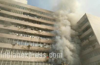 Massive fire breaks out at Lok Nayak Bhawan in central Delhi