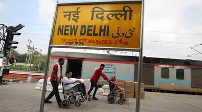 No ramps, patients take to tracks at the New Delhi Railway Station