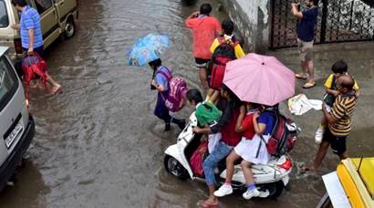 Heavy rain lashes Delhi, NCR, leads to water-logging, traffic snarls
