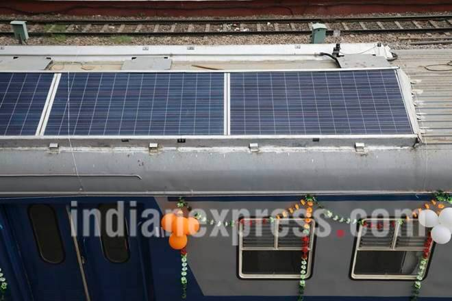 See India's first solar-powered DEMU trains