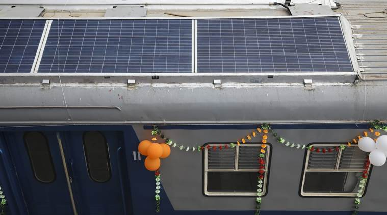 Solar powered train, solar train, DEMU train, solar DEMU train, Indian Railways, Indian Express news