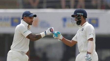 india vs sri lanka, ind vs sl, shikhar dhawan, cheteshwar pujara, india sri lanka twitter reactions, cricket news, sports news, indian express