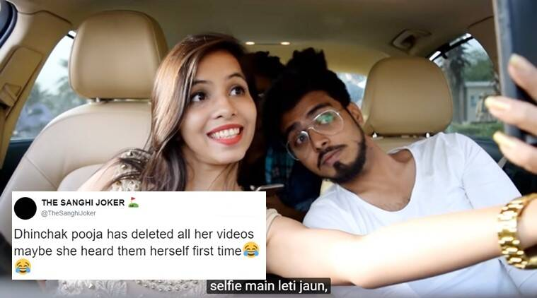dhinchak pooja, dhinchak pooja songs, dhinchak pooja deleted, dhinchak pooja copyright songs, dhinchak pooja songs deleted, dhinchak pooja dilon ka shooter, dhinchak pooja twitter reactions, indian express, indian express news
