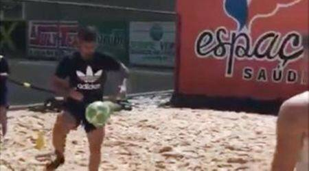 diego costa, costa, chelsea, brazil, beach training costa, football, atletico madrid, sports news, indian express