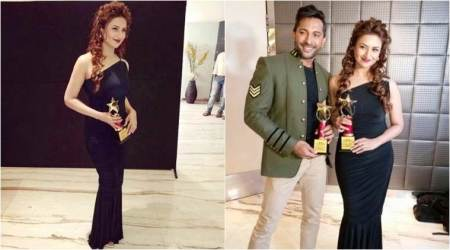 Divyanka Tripathi emerges winner second time in a month, gets honoured with Most Admired Leader in the field of entertainment