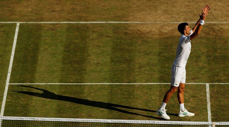 Wimbledon: Federer cruises, Djokovic defaults