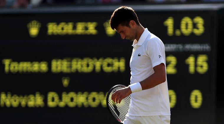 novak djokovic, novak djokovic injury, novak djokovic elbow injury, novak djokovic us open, us open tennis, tennis news, sports news, indian express